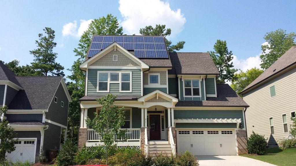 Completed Solar Installation Project on a home rooftop in South Carolina