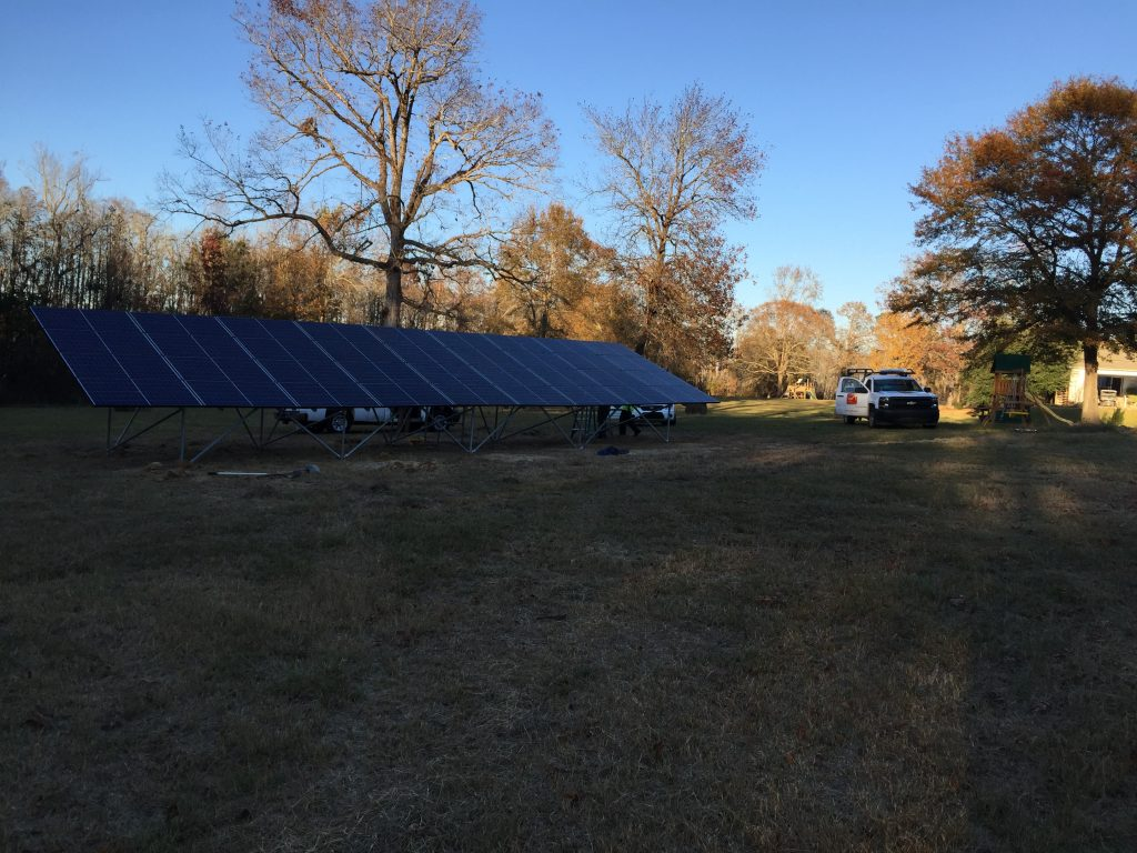 Ground Mounted Solar in S.C. pays the electricity bill